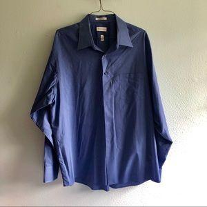 Blue Van Huesen dress shirt great condition! XXL